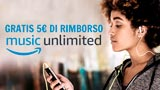 Amazon regala 5 Euro con l'app Music. Ecco come fare per averli