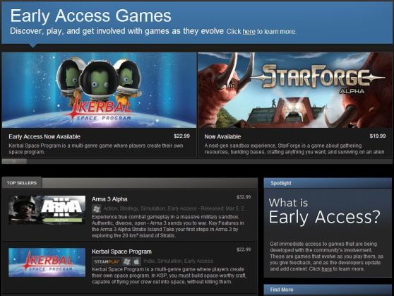 Steam Accesso Anticipato