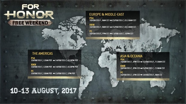 Free Weekend per For Honor