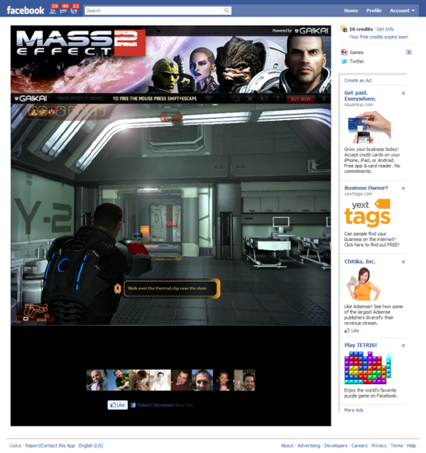 Mass Effect 2 su Gaikai