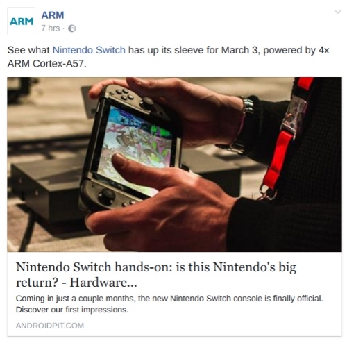 Nintendo Switch ARM