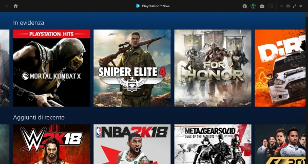 PlayStation Now per PC