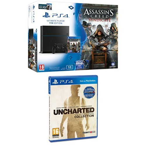 PlayStation 4 1 Tb C Chassis + Assassin's Creed Syndicate + Watchdogs + Uncharted: The Nathan Drake Collection