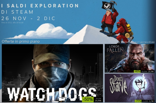 Saldi Exploration su Steam